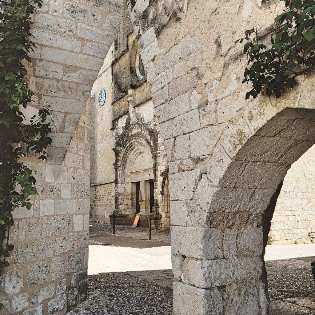 The beautiful stonework arches of Monpazier