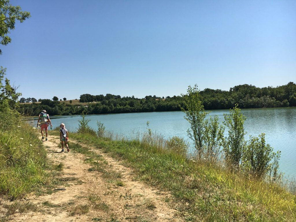 Enjoying a walk around a lake near Issigeac. There are a whole host of beautiful hikes in the area.