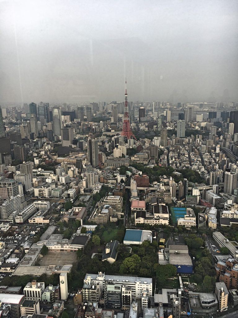 View looking out towards the Tokyo Tower from Tokyo City View