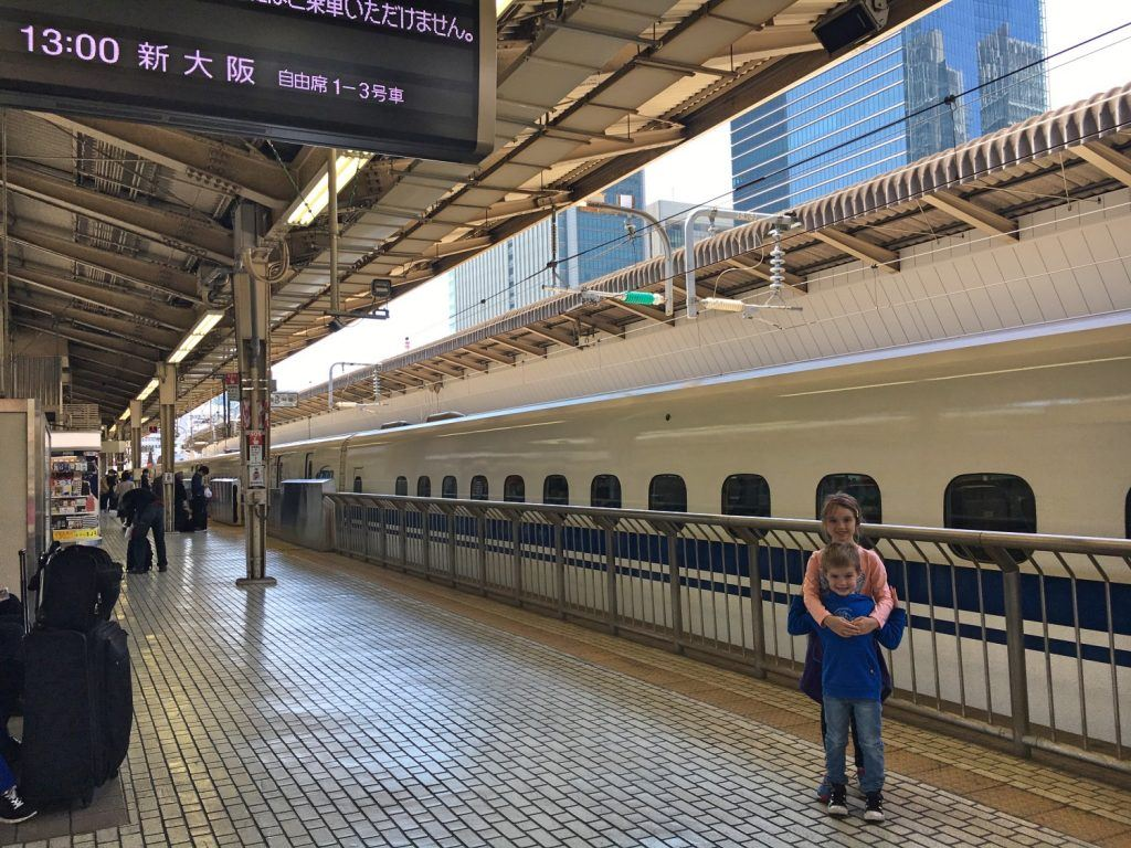 About to board the shinkansen