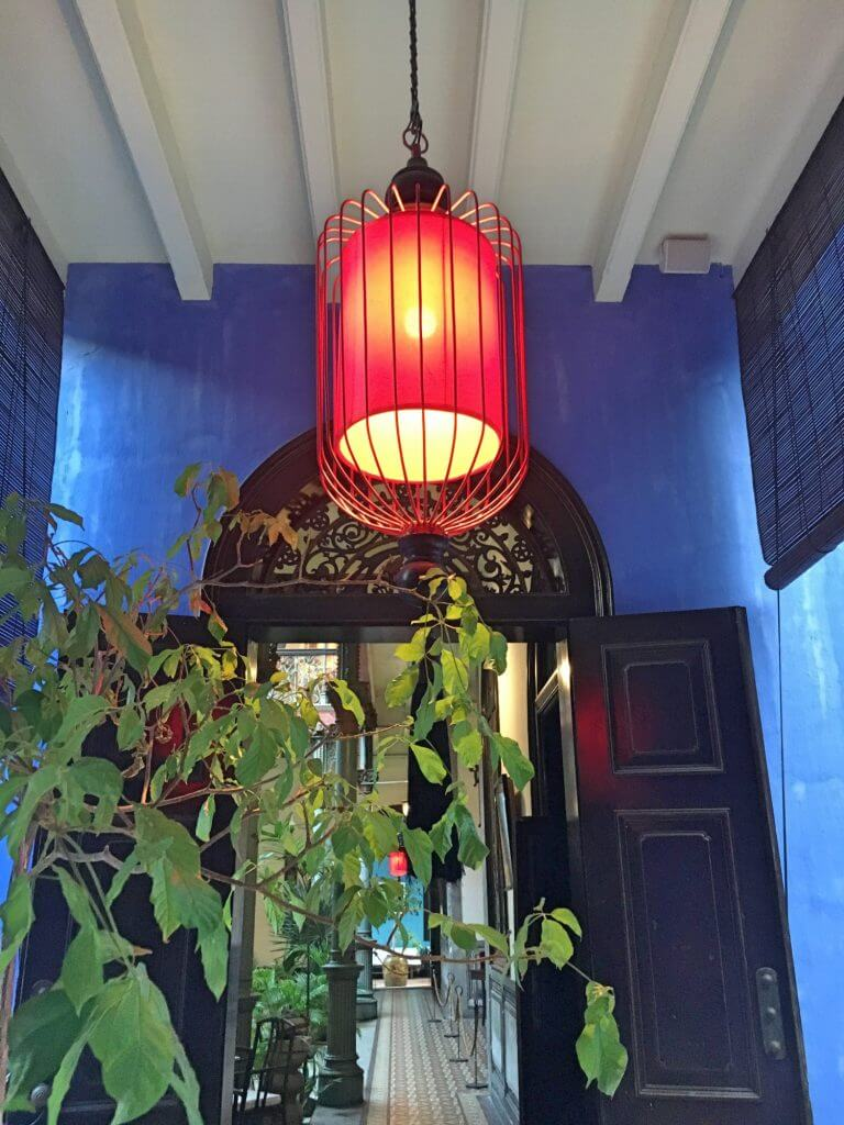 Cheong Fatt Tze - The Blue Mansion - you can see why it's called Indigo Restaurant!