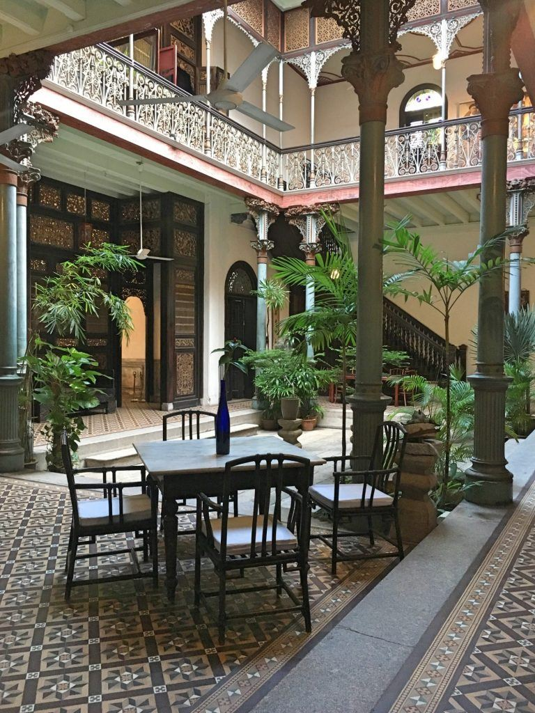 Beautiful courtyard at The Blue Mansion