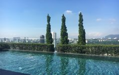Looking out over Penang from the 24th floor pool