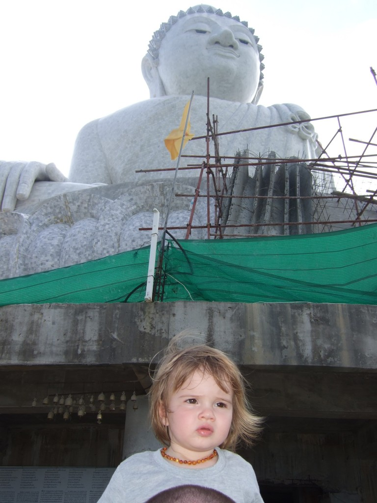 Checking out the Big Buddha