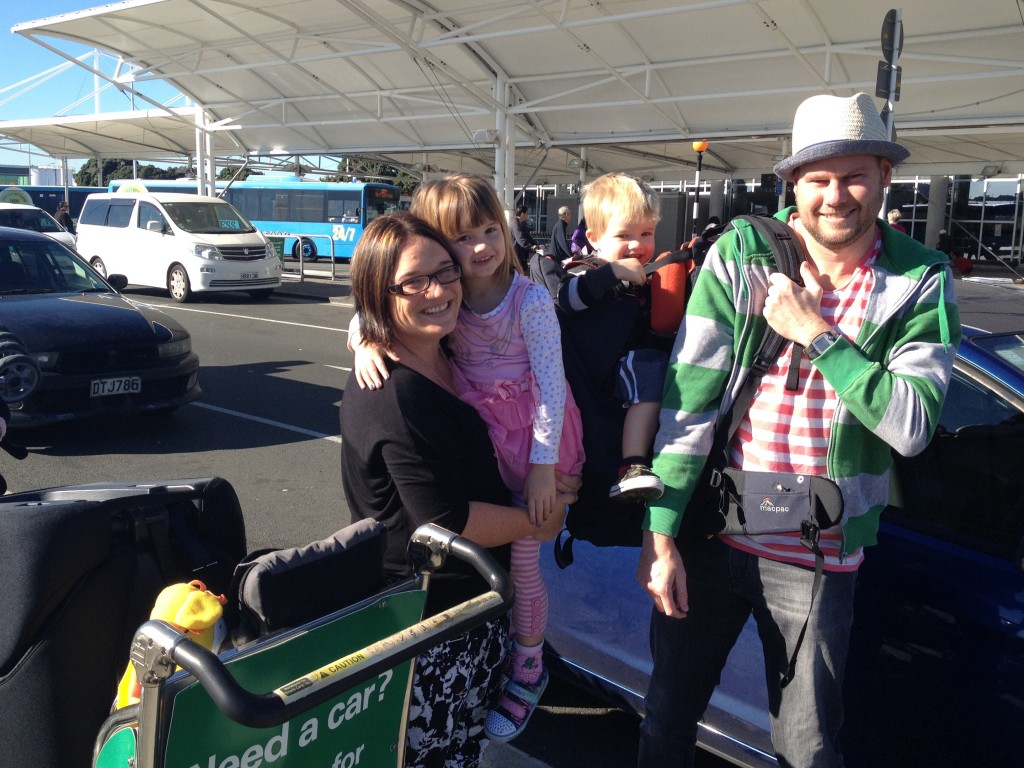 On our way! Ready to depart at Auckland Airport.