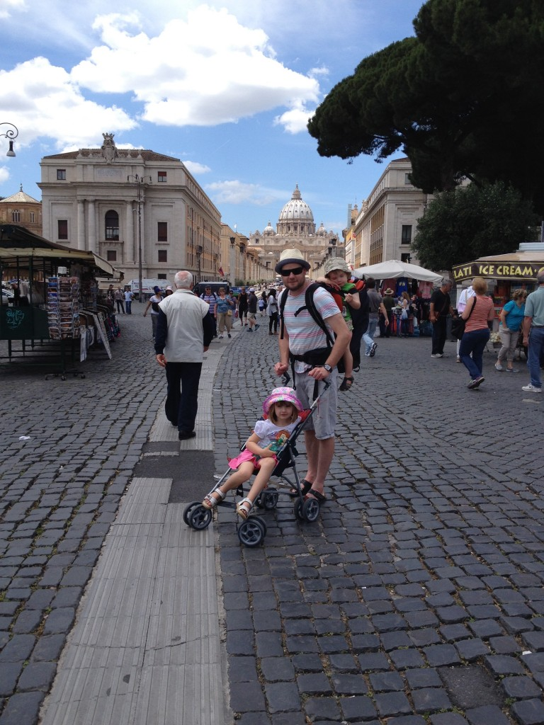 On the way to St Peters and the Vatican
