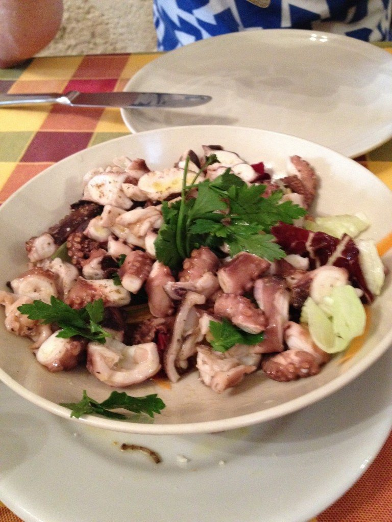 Amazing octopus salad for lunch