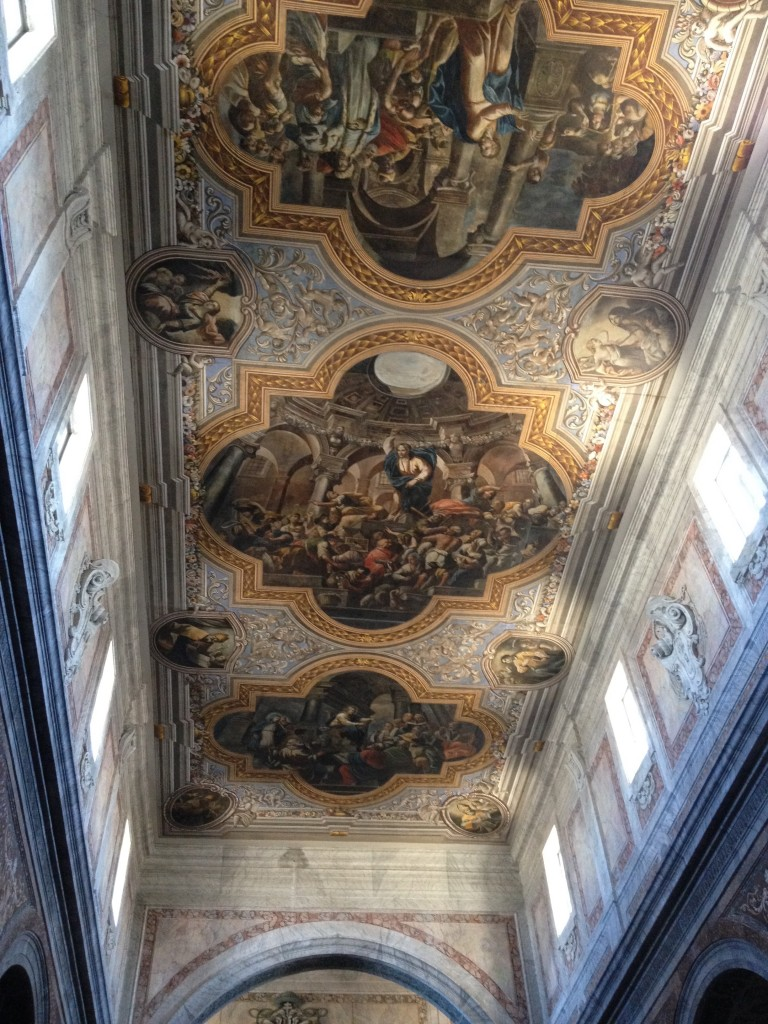 Beautiful ceiling of the church at Ostuni