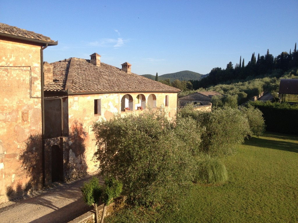 View from the balcony of our villa at Montestigliano