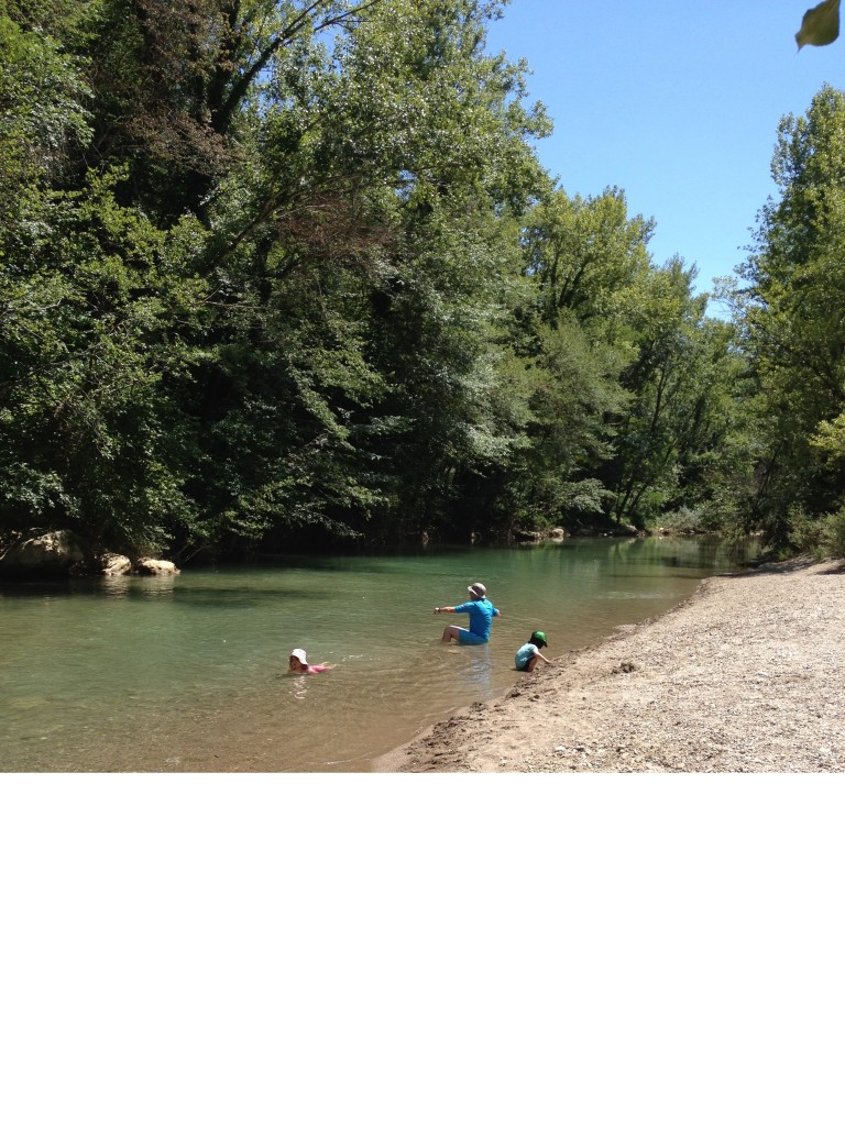 Cooling off in the River Merse