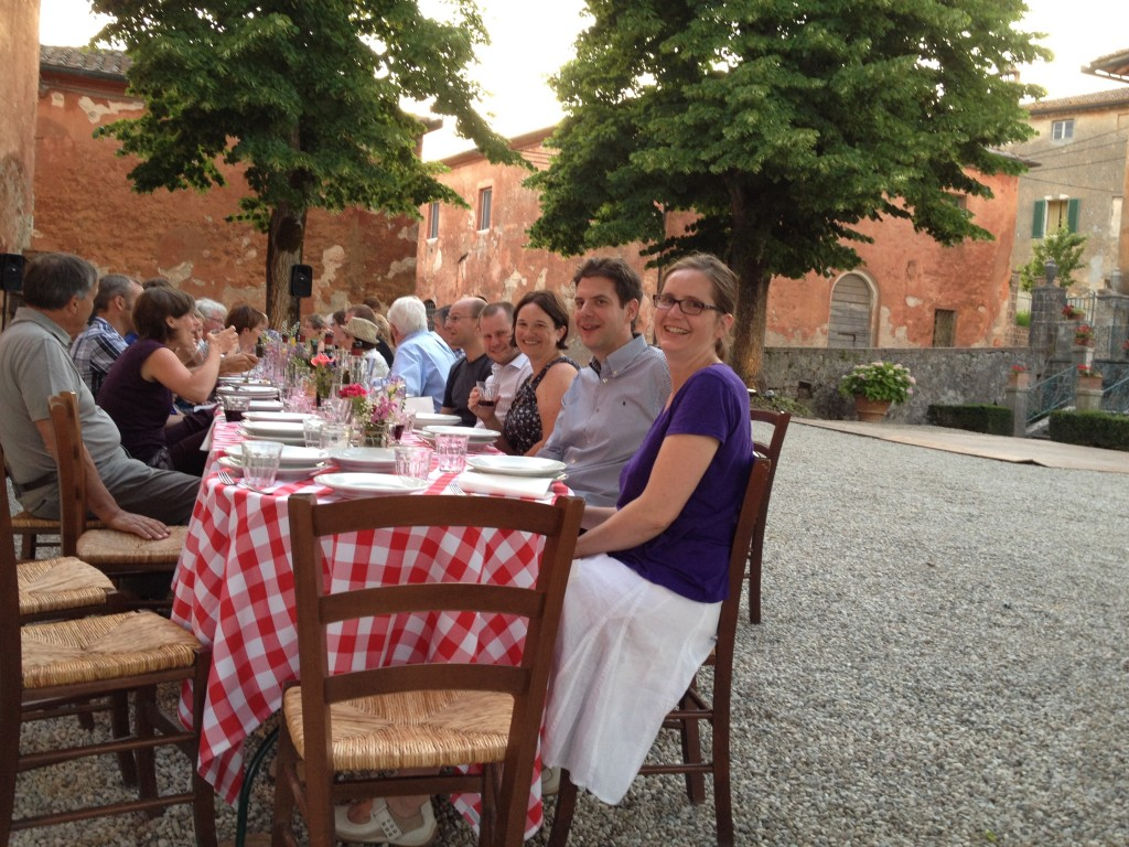Group dinner at Montestigliano (photo by S)
