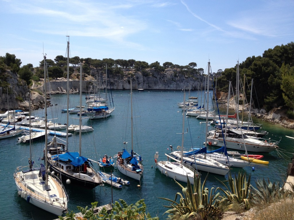 Boats moored in Cassis
