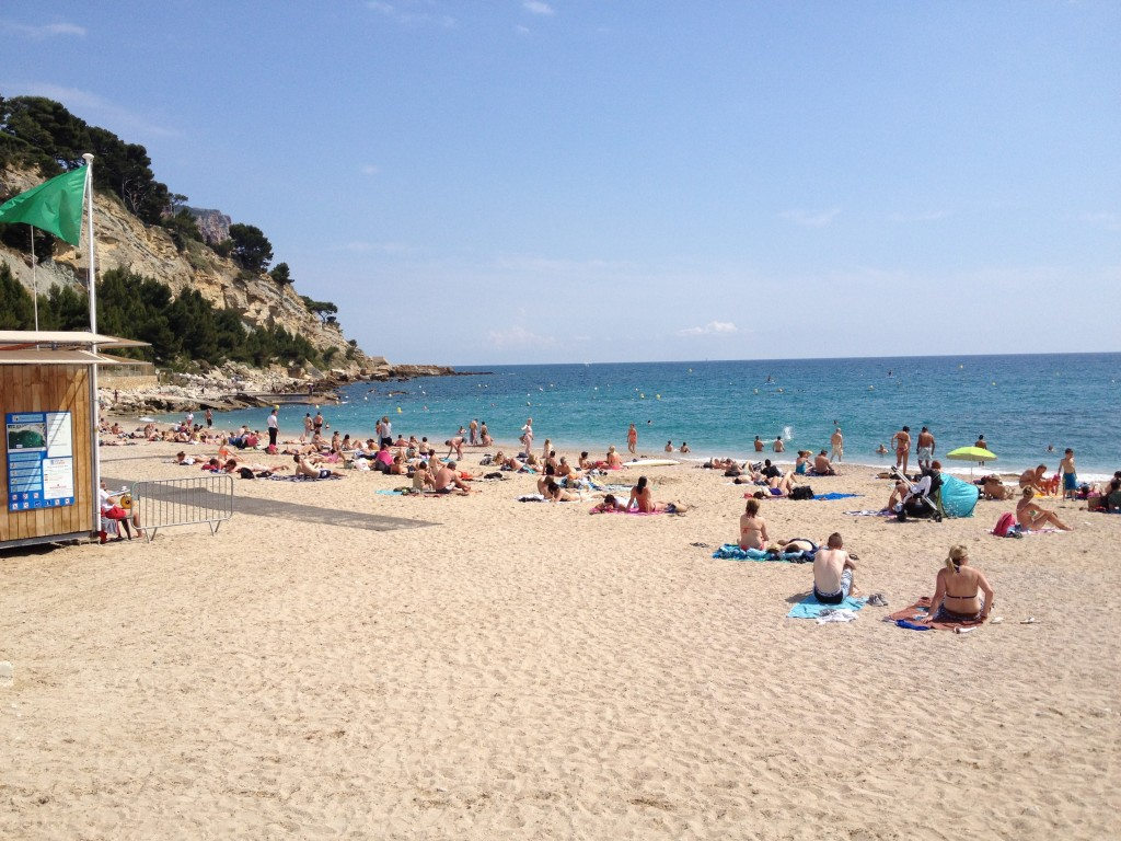 One of the beaches in Cassis