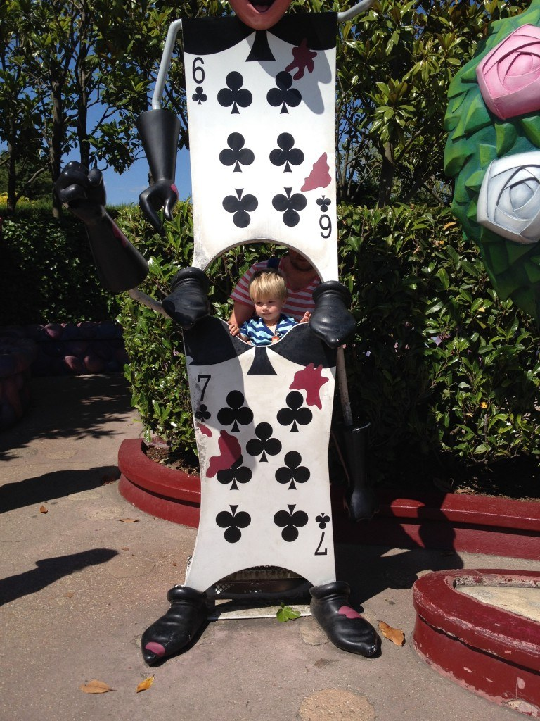 At the Alice in Wonderland ride