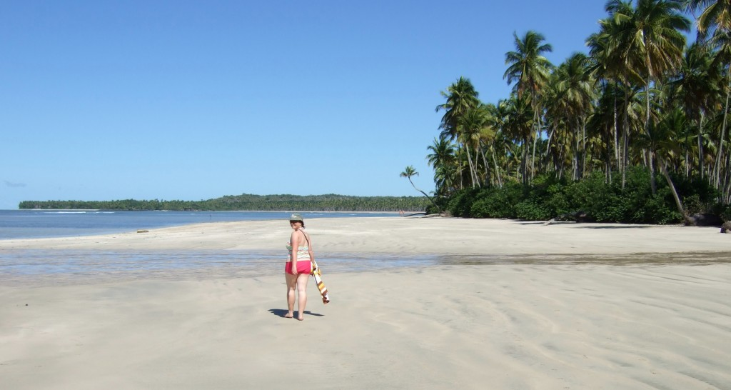 The main beach on Boipeba island