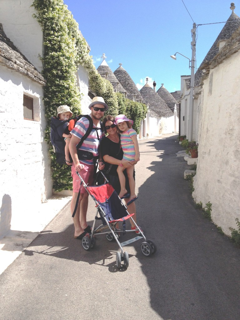 Us at Alberobello in Puglia, Italy