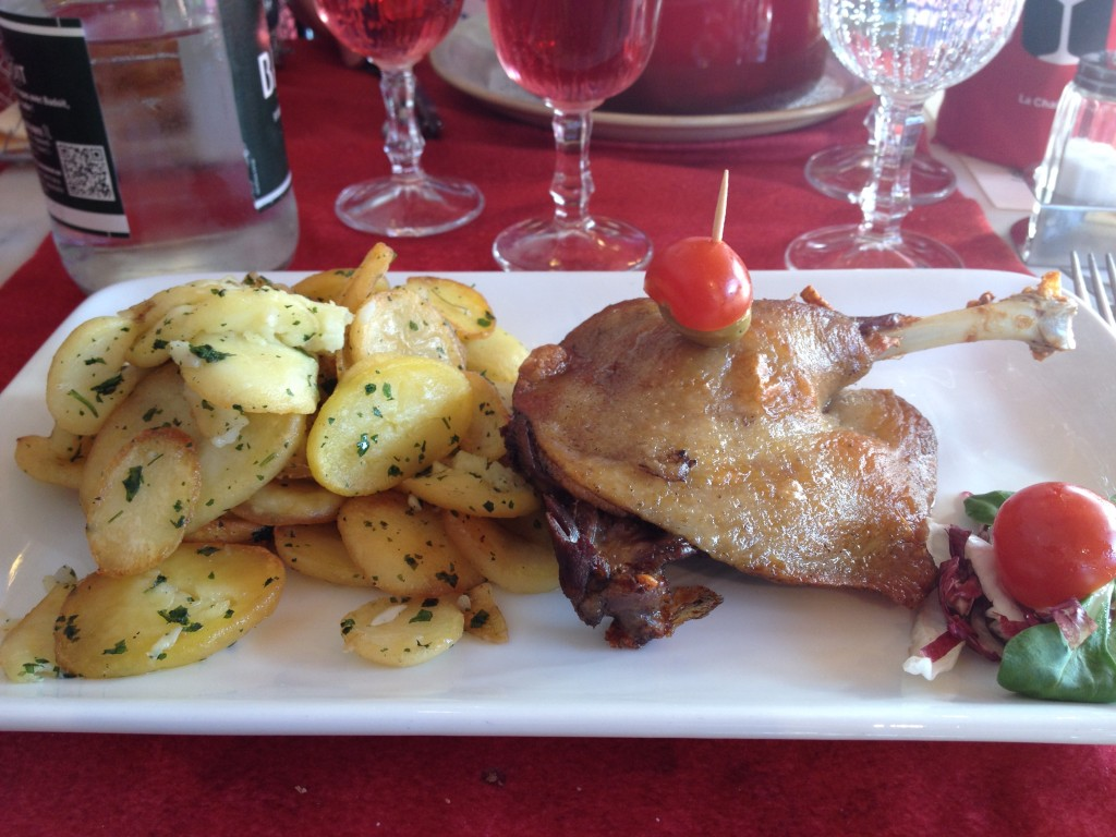 Beautiful duck confit and roasted potatoes, yum.