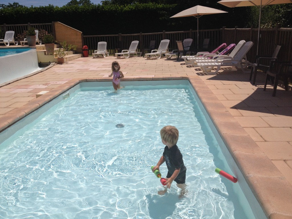 The toddler pool at Camping Le Capryou