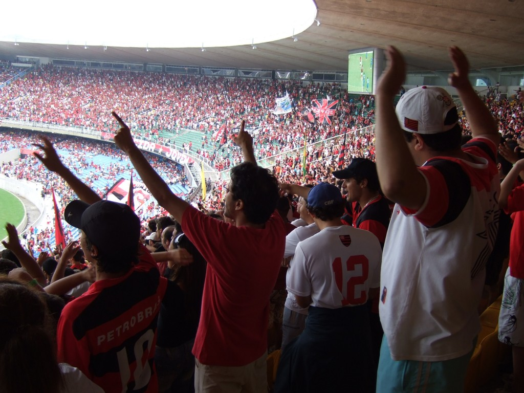 Flamengo supporters singing