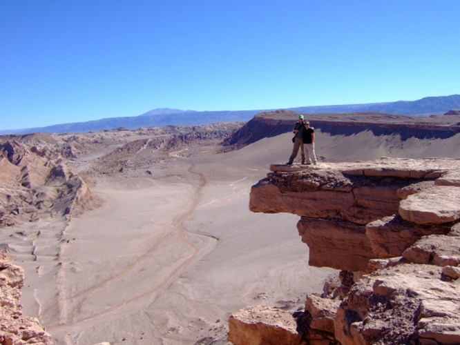 Literally 'hanging out' in the Atacama desert