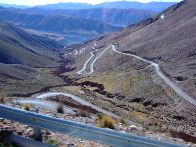 The windy road over the Jama pass