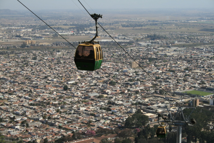 The cable car up to San Bernadino hill, which looks out over the city of Salta.