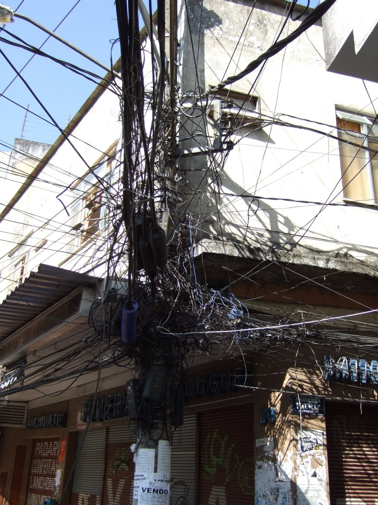 Electrical chaos in the favella