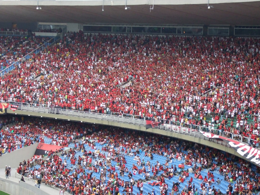 Flamengo supporters (it was a home game)