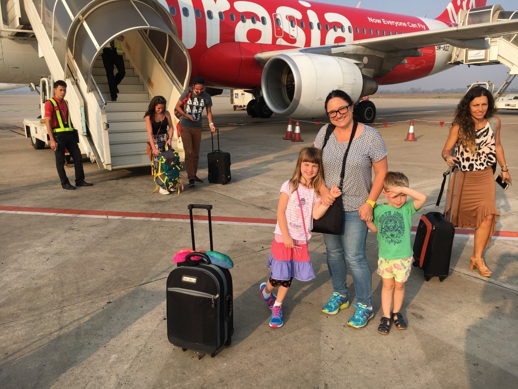 Air asia flight to Siam Reap