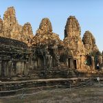 Angkor Thom with kids