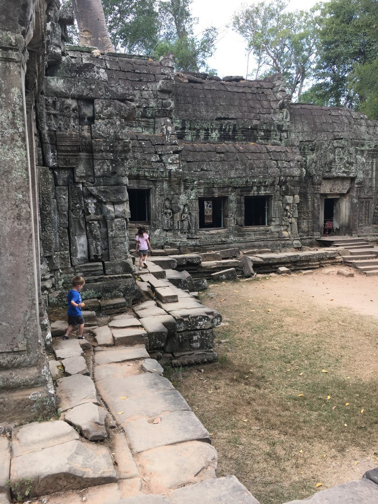 The kids loved running and exploring Angkor Thom