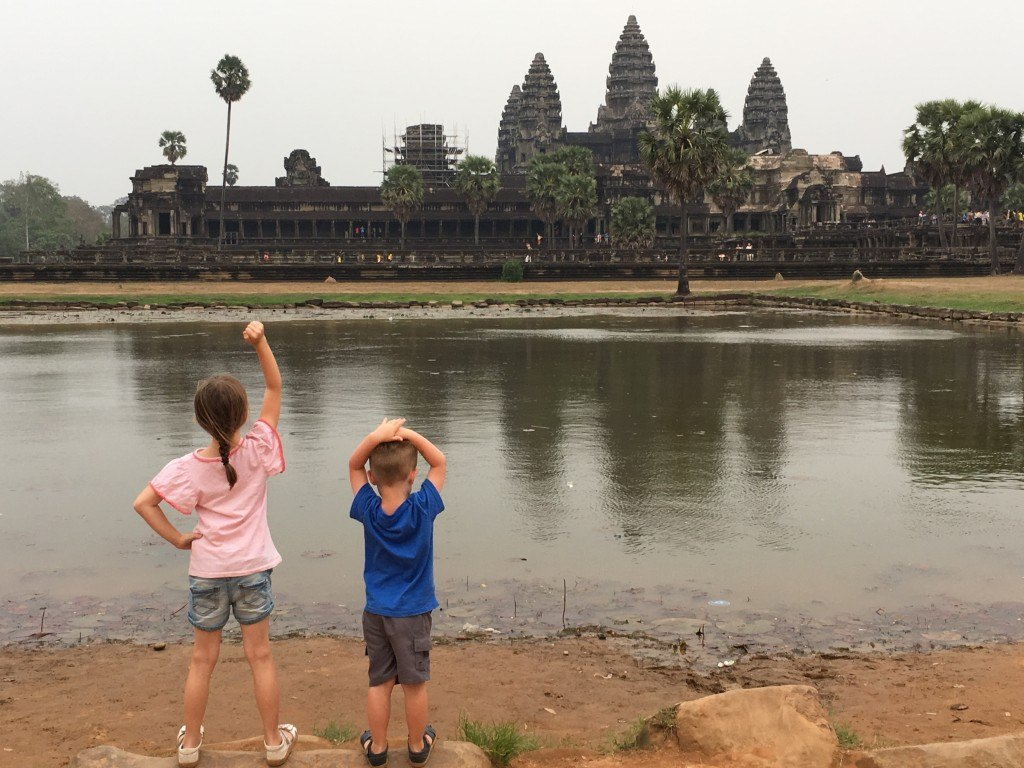 Kids at Angkor Wat