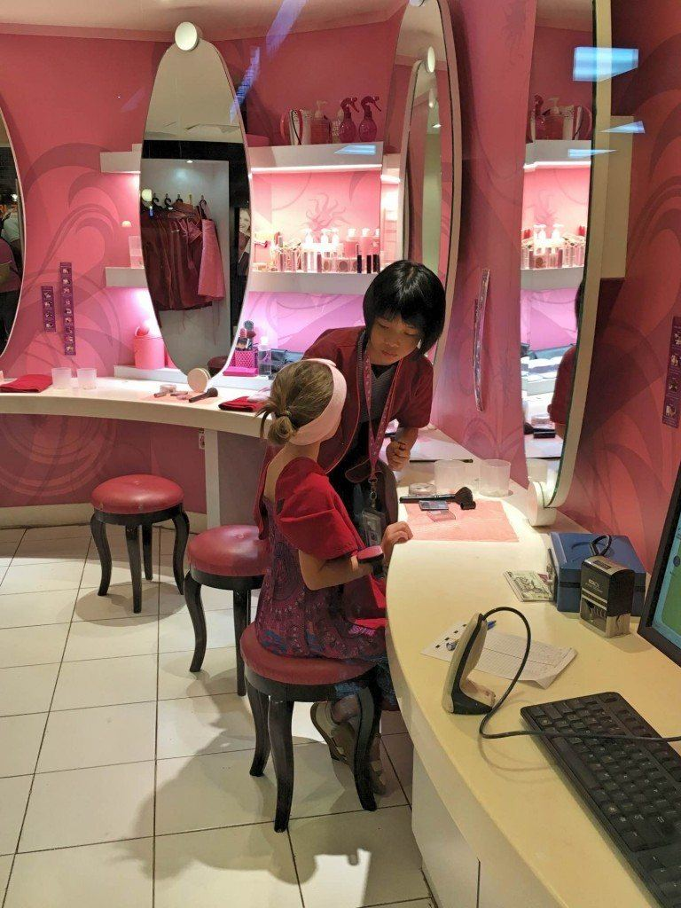 Most of the Kidzania branches will have a beauty salon in them.
