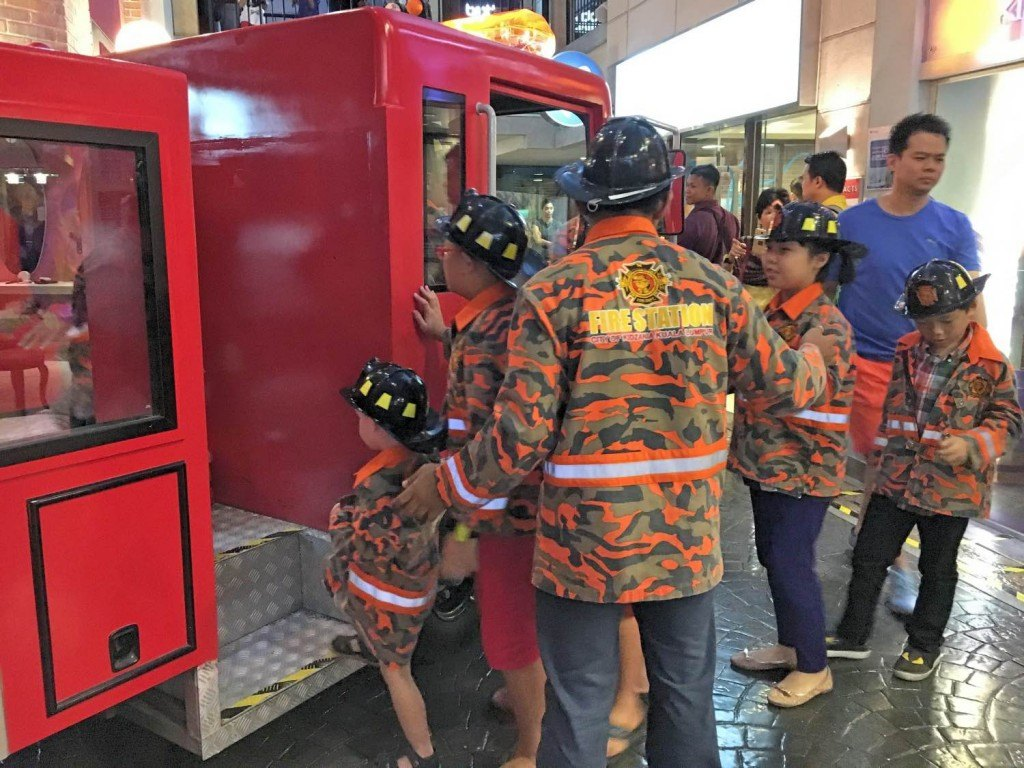The fire truck is worth the Kidzania KL price!