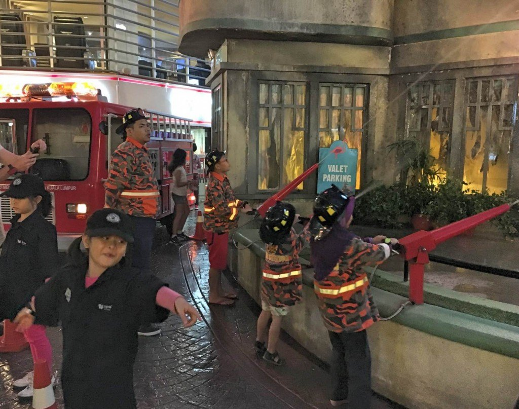 Kidzania Malaysia police at the scene of the fire
