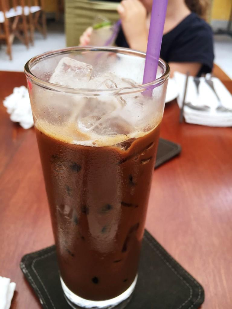 Vietnamese iced coffee sweetened with condensed milk