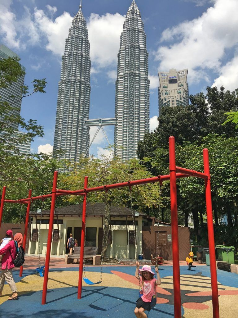 The fabulous playground at KLCC near the Hotel Impania