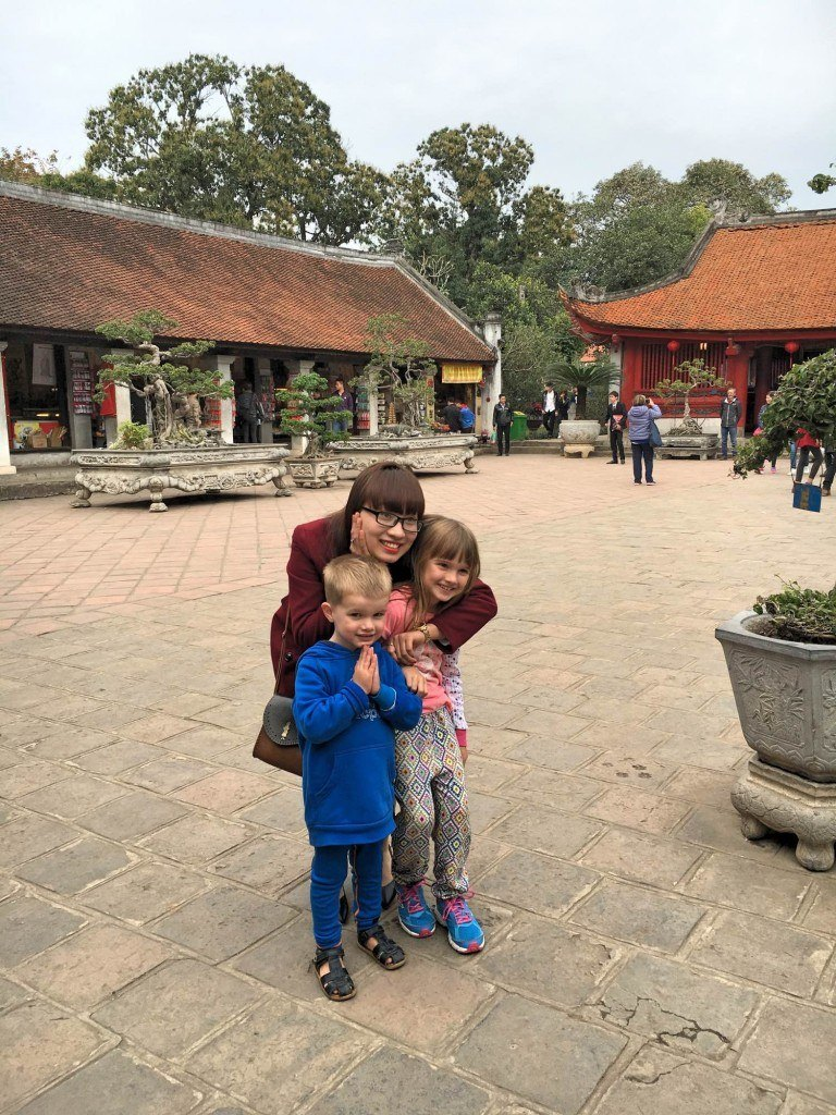 Temple of Literature with kids