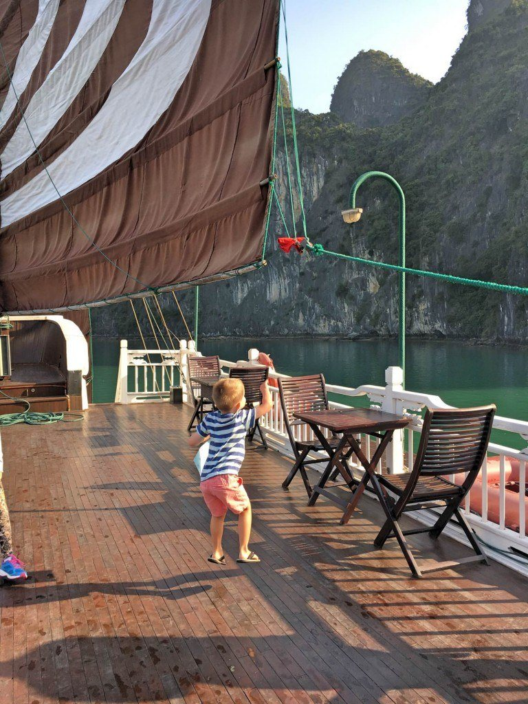 Birthday presents in Halong Bay Vietnam