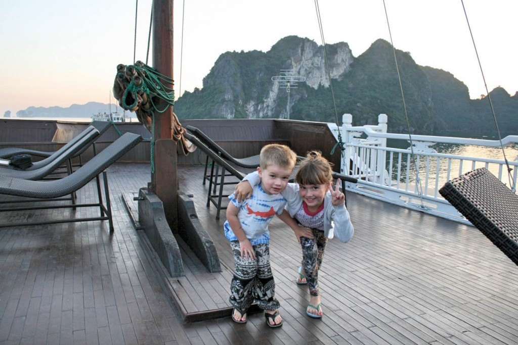 Halong Bay with kids