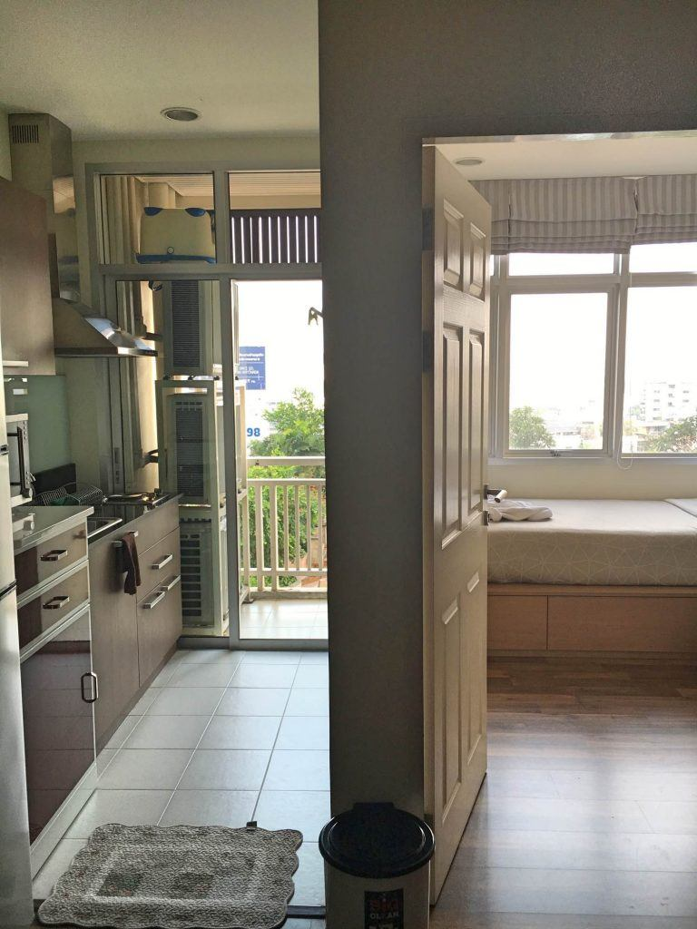 The kitchen and bedroom one