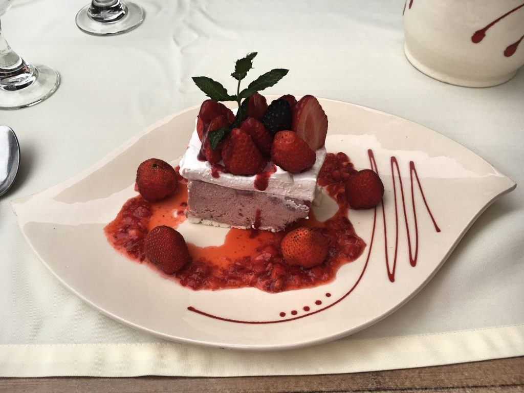 Dessert at Le Bruceliere in Issigeac
