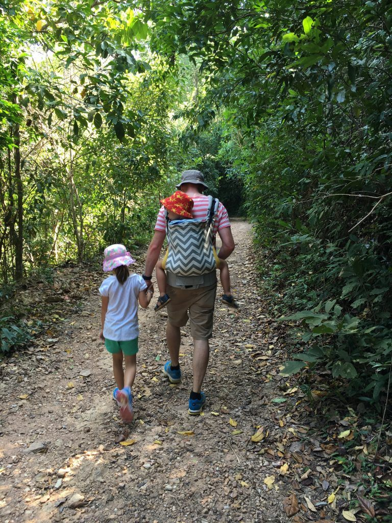 The Tula toddler carrier in action at Kep National Park in Cambodia