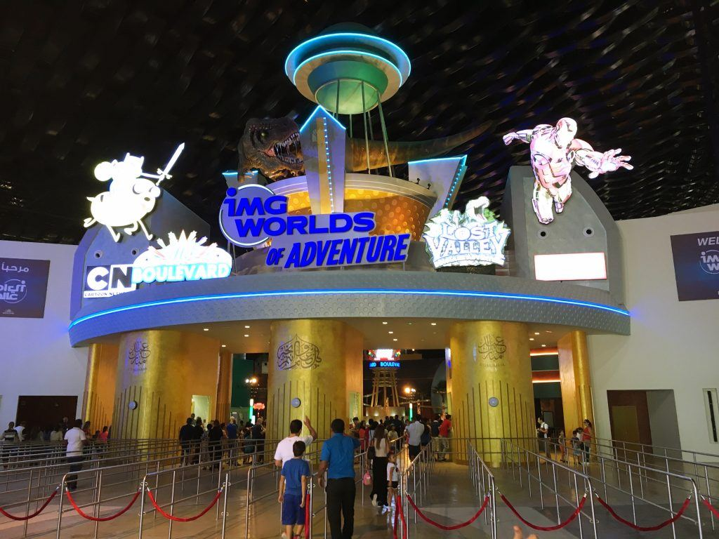 Entrance to IMG World of Adventure in Dubai