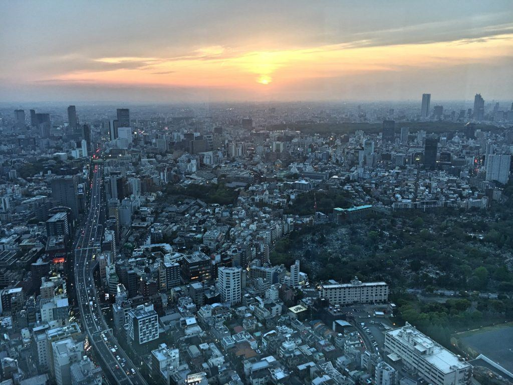 Sunset from Tokyo City View