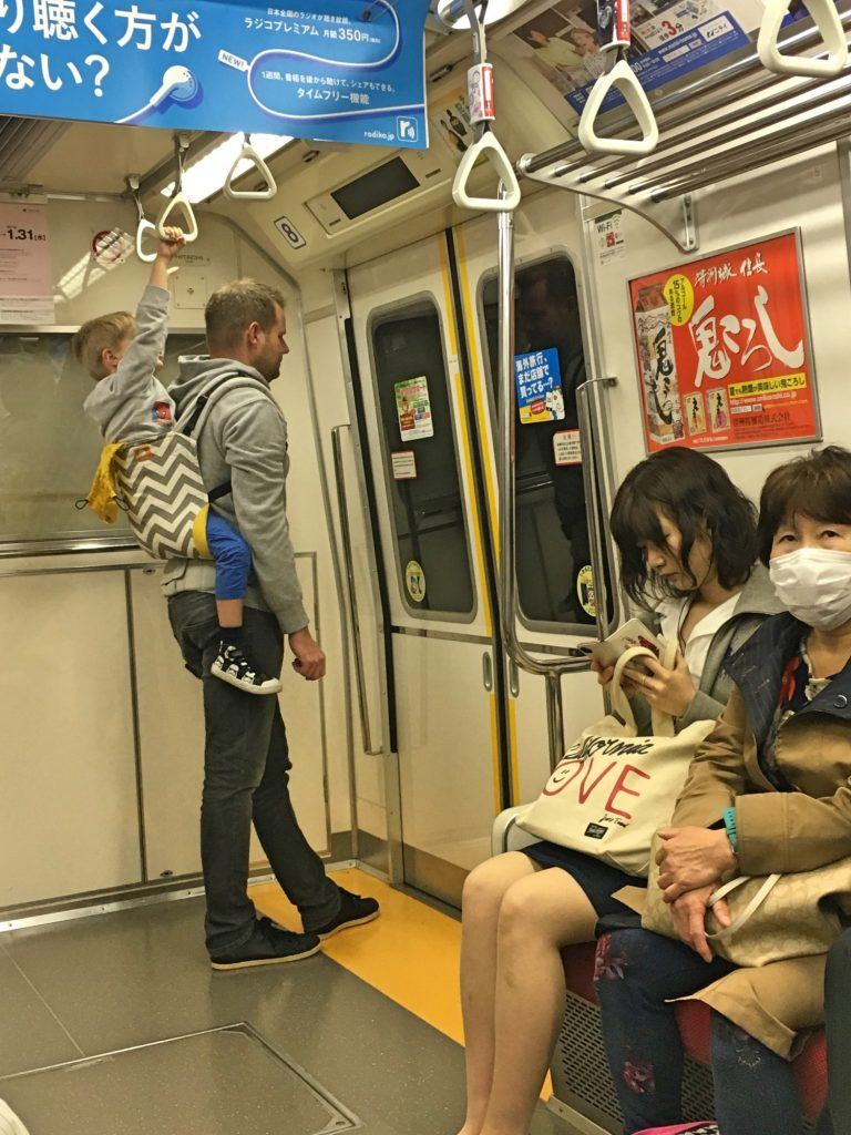 On the Tokyo subway