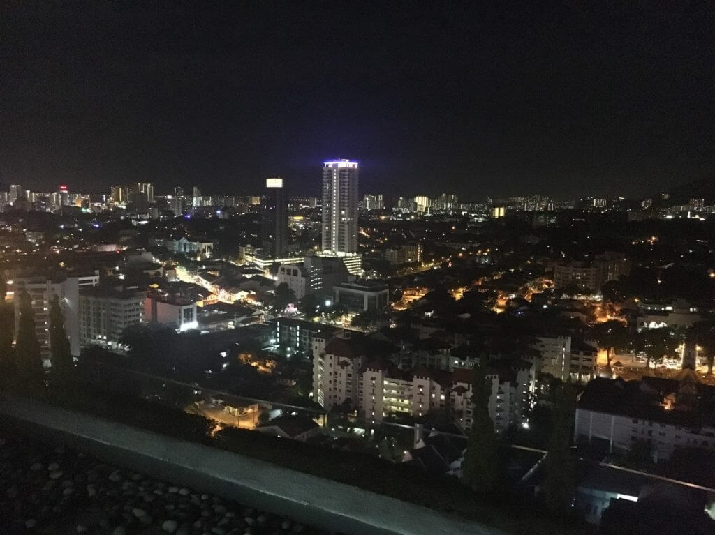 Night view from the 24th floor of G Hotel Kelawai
