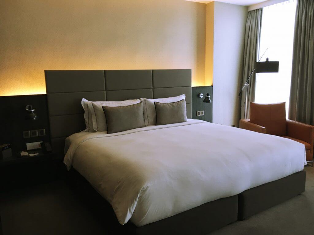 Bed in executive room at G Hotel Kelawai