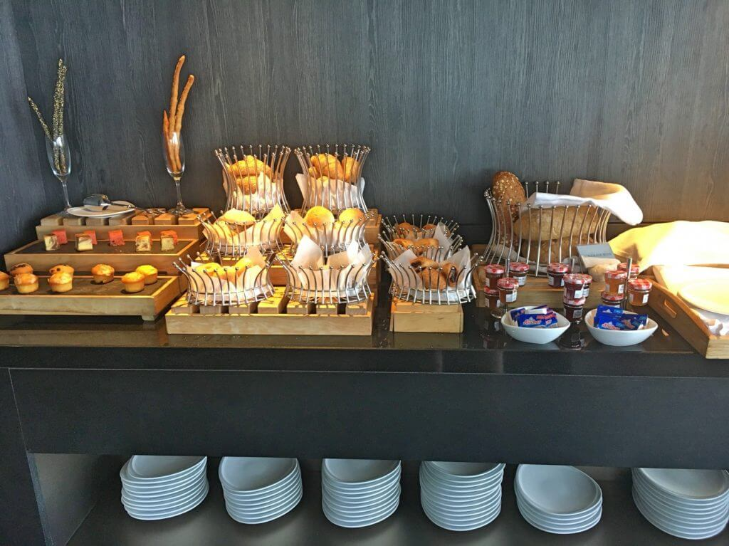 Delicious pastries and bread selection