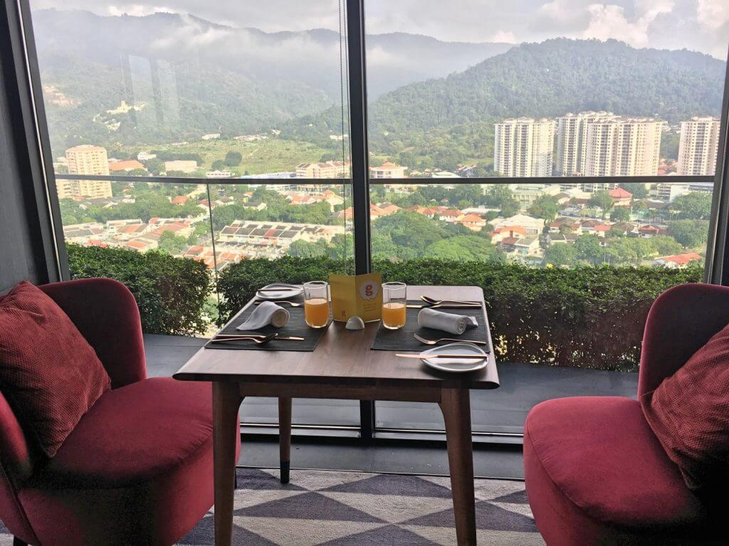 Breakfast with a view at the Executive Lounge at G Hotel Kelawai